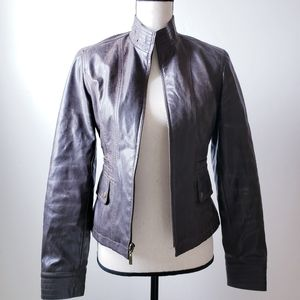 Maurices Faux Leather Zip Up Jacket Dark Brown